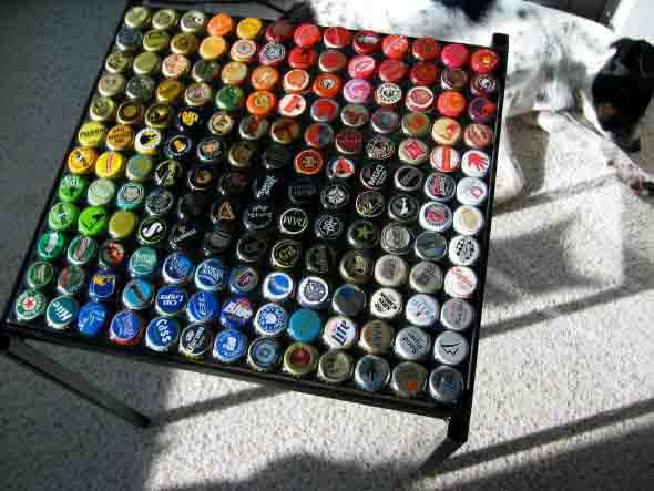 Dicas criativas com tampinhas de garrafas 006