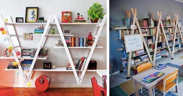 Como montar uma estante de livros em casa 006
