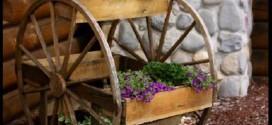 Rodas antigas podem virar decoração