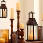 Decoração com lamparinas e castiçais 005