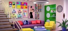 Sala de estar com decoração vintage