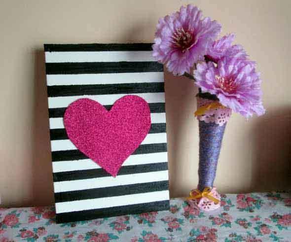 Quadro de coração para o Dia dos Namorados 009