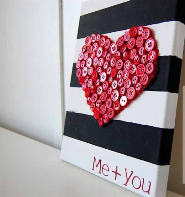 Quadro de coração para o Dia dos Namorados 010
