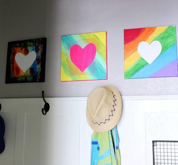 Quadro de coração para o Dia dos Namorados 014
