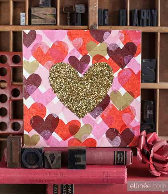 Quadro de coração para o Dia dos Namorados 018