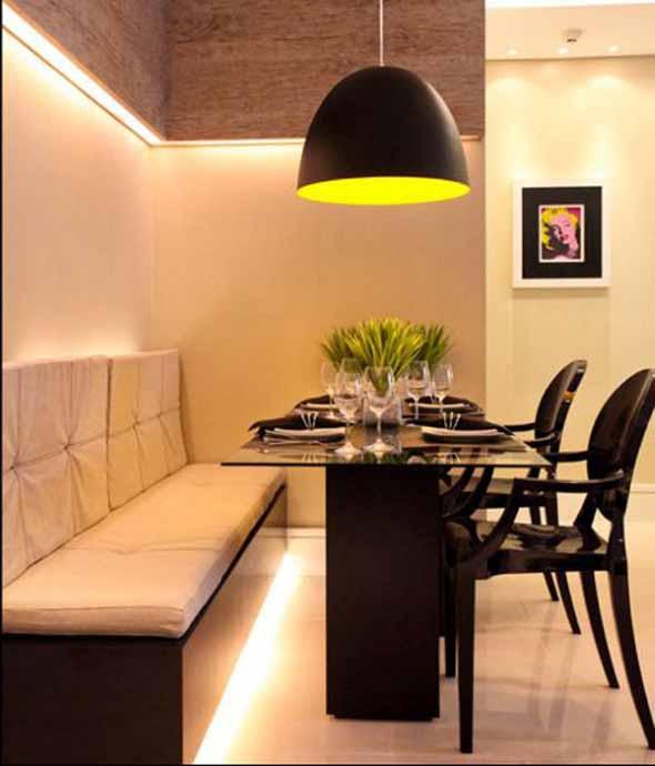 Banco Na Sala De Jantar ~ Bancos na sala de jantar dão mais espaço no ambiente