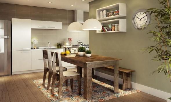 Banco De Sala De Jantar ~ Bancos na sala de jantar dão mais espaço no ambiente