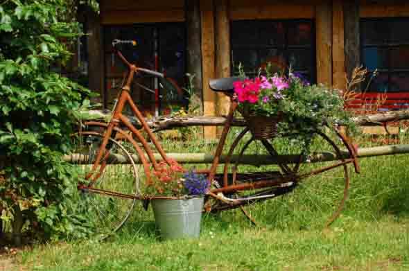 Bicicletas antigas na decoração 005