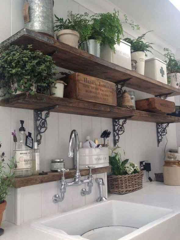 Como organizar a rea de servi o ou lavanderia dicas for Repisas rusticas para cocina