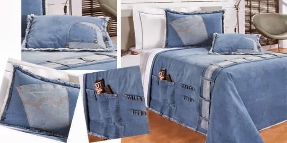 Decore sua casa com peças de jeans velhos 004