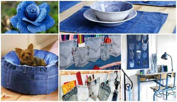 Decore sua casa com peças de jeans velhos 006