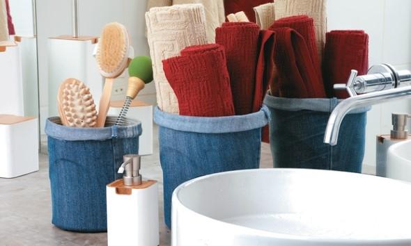 Decore sua casa com peças de jeans velhos 007
