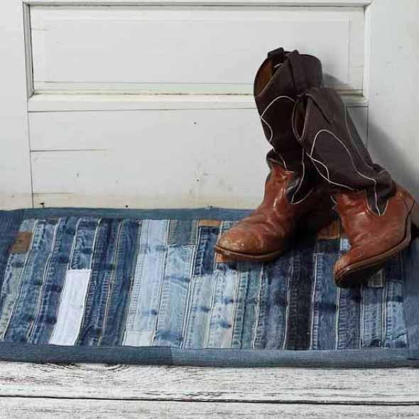 Decore sua casa com peças de jeans velhos 012