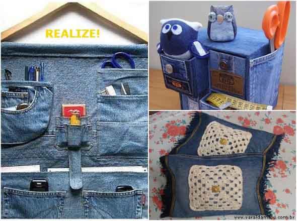 Decore sua casa com peças de jeans velhos 013
