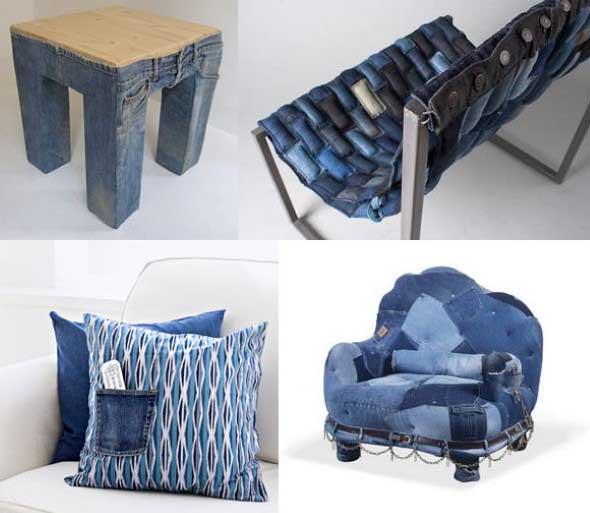 Decore sua casa com peças de jeans velhos 015