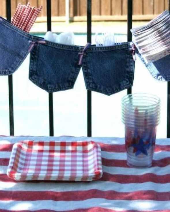 Decore sua casa com peças de jeans velhos 017