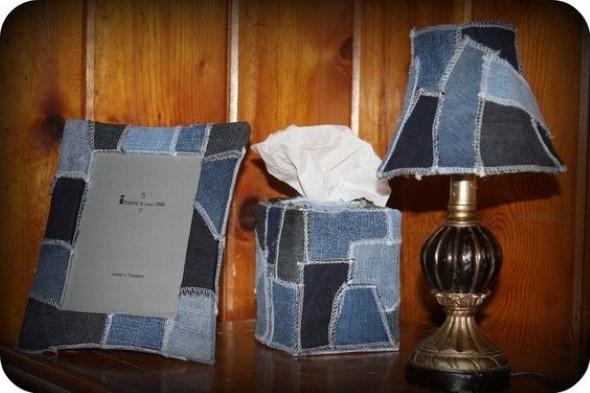 Decore sua casa com peças de jeans velhos 018