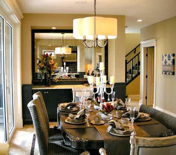 Decore sua sala de jantar com espelhos 005