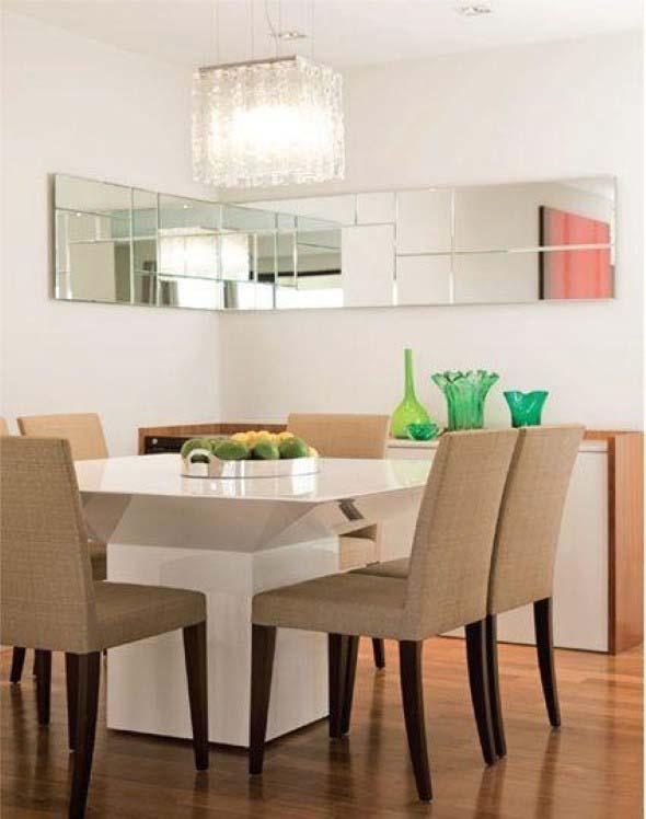 Decore sua sala de jantar com espelhos 007