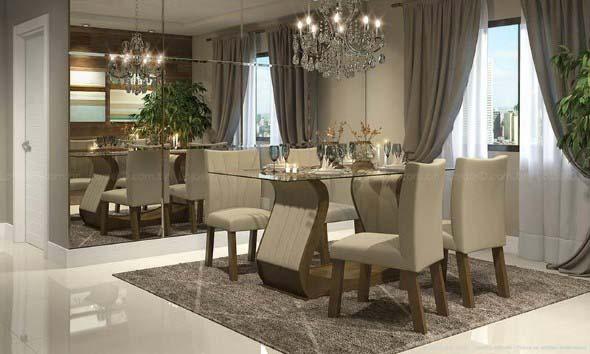 Decore sua sala de jantar com espelhos 009