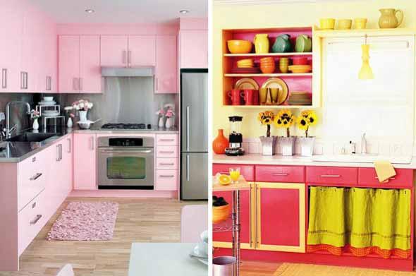 Colorido na decoração da cozinha 009