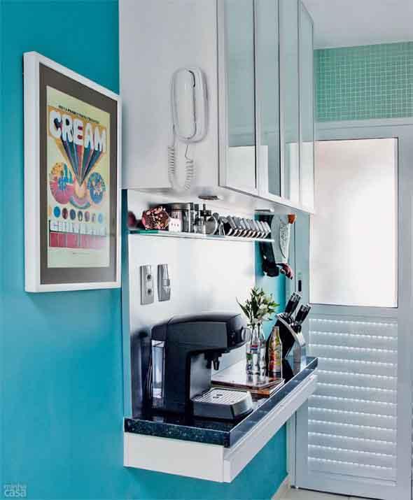Colorido na decoração da cozinha 016