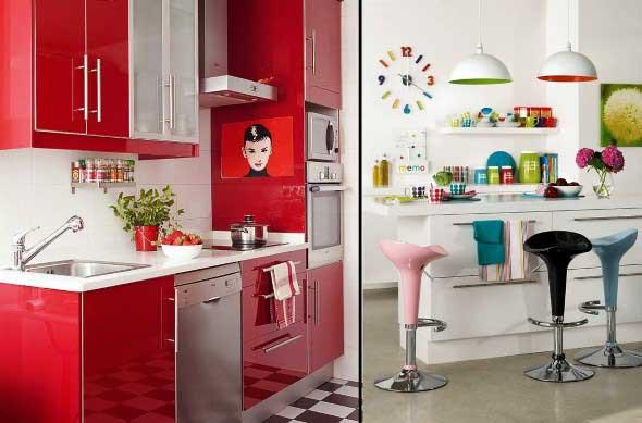 Colorido na decoração da cozinha 020