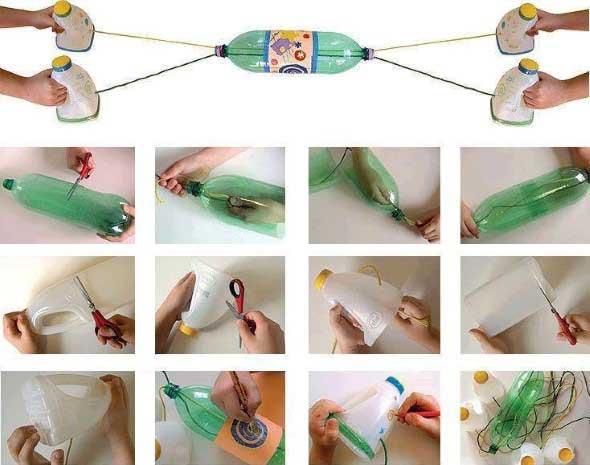 Brinquedos de material reciclado para o Dia das Crianças 004