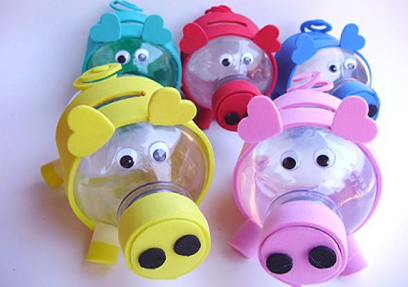 Brinquedos de material reciclado para o Dia das Crianças 005