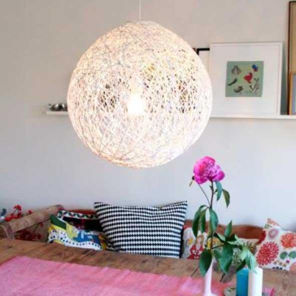 DIY - Como fazer uma luminária de barbante 005