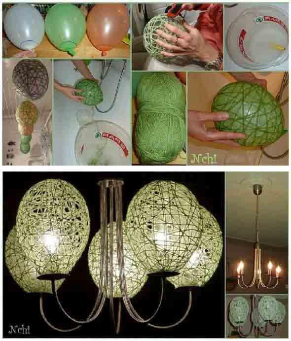 DIY - Como fazer uma luminária de barbante 011