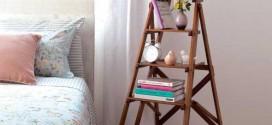 Ideias criativas para montar estantes e prateleiras com escadas