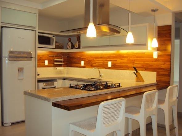 Usando madeira na decoração da cozinha 004