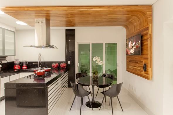 Usando madeira na decoração da cozinha 006
