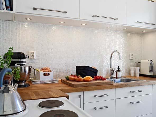 Usando madeira na decoração da cozinha 012