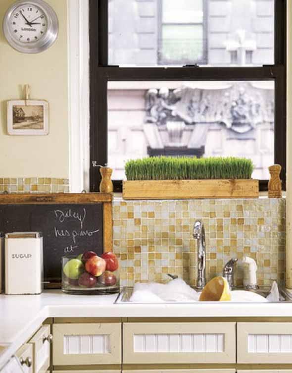 Usando madeira na decoração da cozinha 019