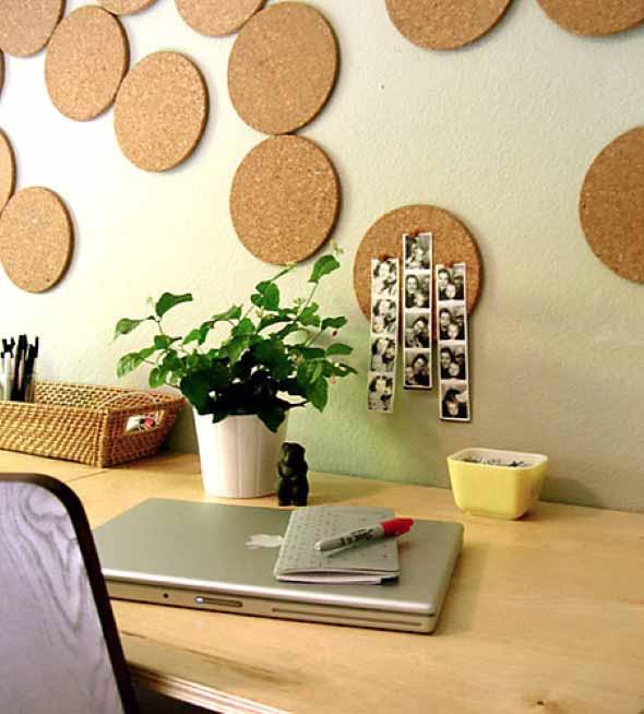 Como decorar paredes e pisos com cortiça 005