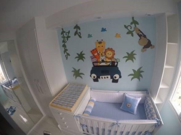 Decoração em EVA para o quarto do bebê 010