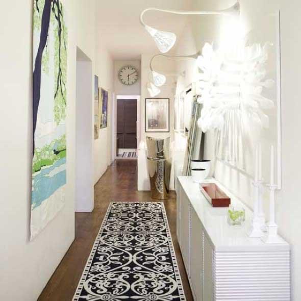 Dicas para decorar toda casa na cor branca - Deco couloir baroque ...