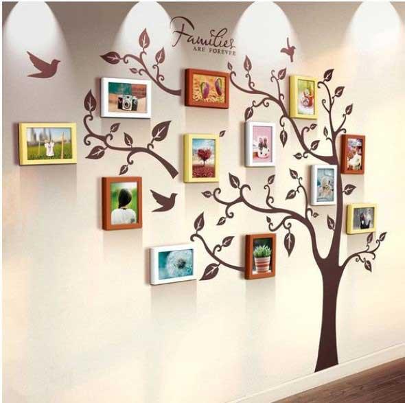 Quadros de forma criativa na decoração 002
