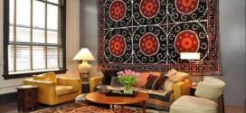 Como decorar a casa com tapetes nas paredes
