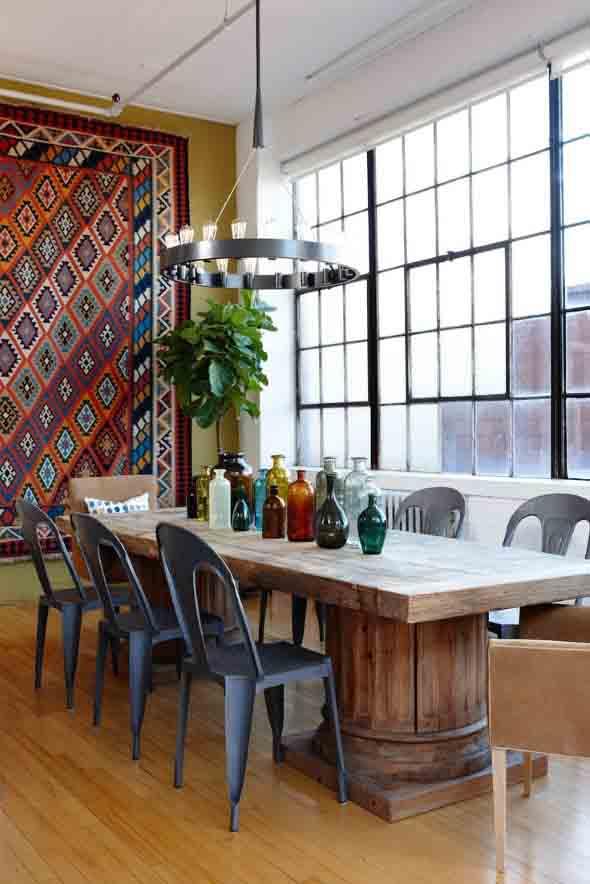 Como decorar a casa com tapetes nas paredes 007