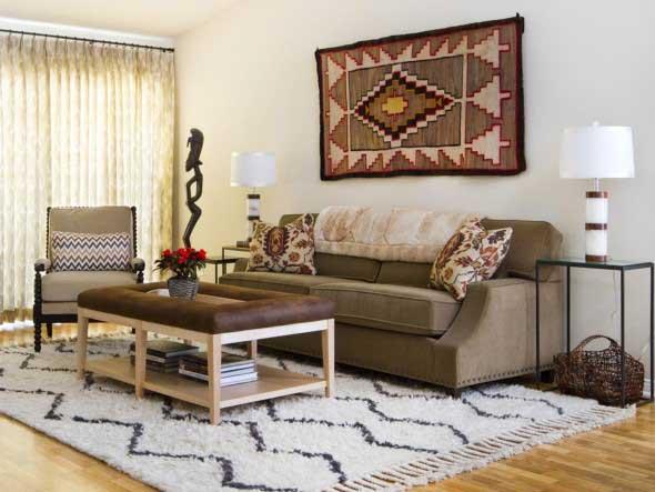 Como decorar a casa com tapetes nas paredes 010