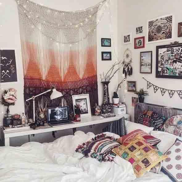 Como decorar a casa com tapetes nas paredes 016