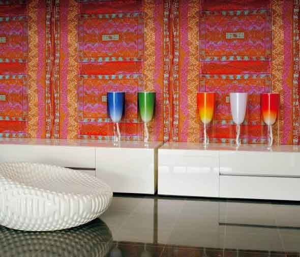 Como decorar a casa com tapetes nas paredes 017