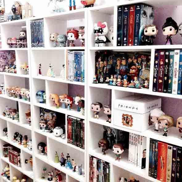Decorar o quarto com coleções 012