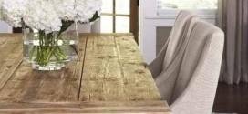 Mesa rústica na decoração da sala de jantar