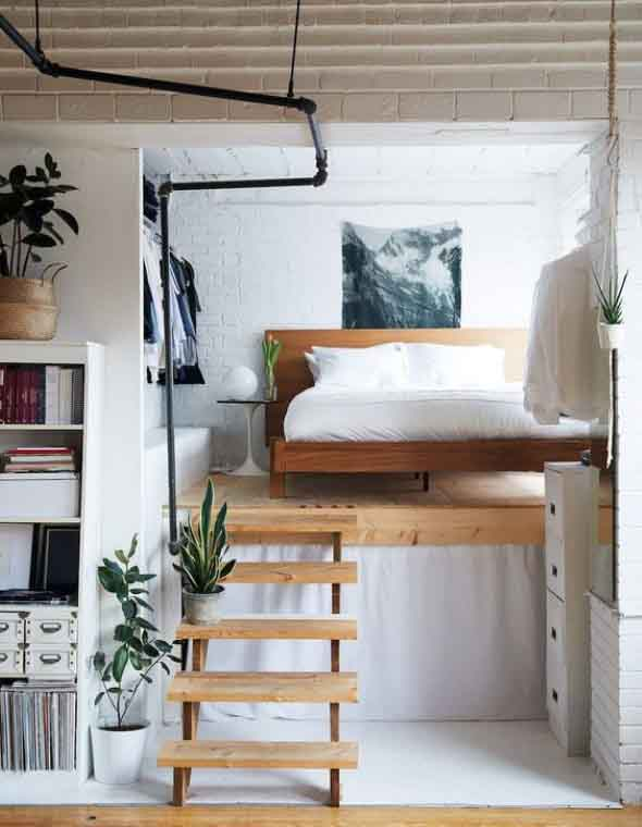 10 Creative Examples For Dividing Small Spaces: Cano Aparente Na Decoração De Casa