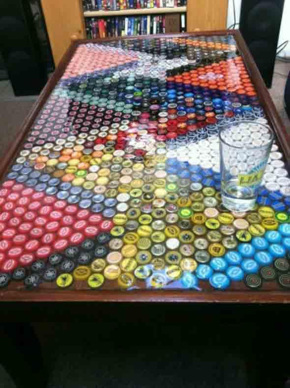 Decore sua casa com tampinhas de garrafas 002