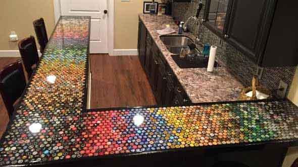 Decore sua casa com tampinhas de garrafas 004